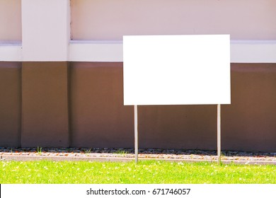 Mock up. Outdoor advertising, blank billboard outdoors, public information board in the street
