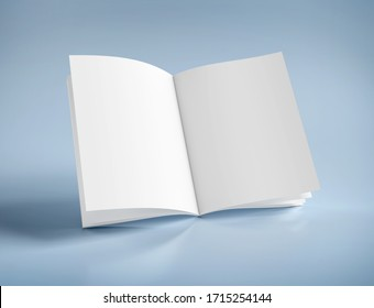 Mock up view of an open magazine - 3d rendering