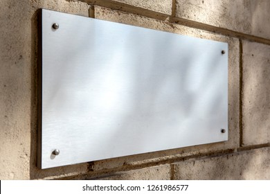 Mock up view of a plate metal sign