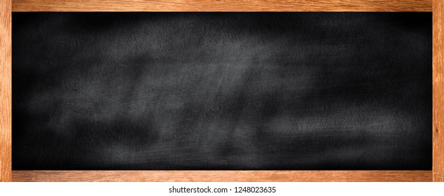 mock up vintage black chalk board texture with old vintage wooden frame.use for work about art design,decorate,business,education