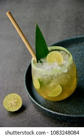 Mocktail of Sugar Cane and Coconut Water with Lime