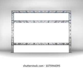 mockup in 3d of itinerant cinema made with truss box