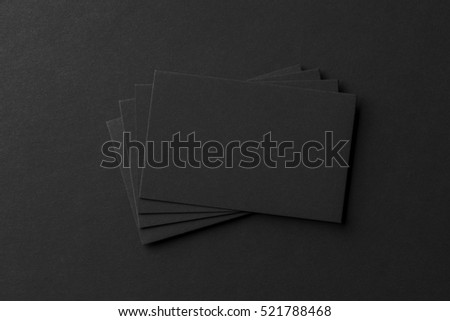 Mockup Business Cards Fan Stack Black Stock Photo Edit Now