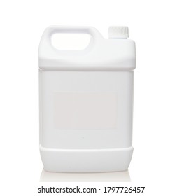 Mock-up canister for liquids on white background