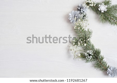 Mockup Christmas Wreath Form Heart Decorated Stock Photo Edit Now