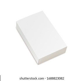 Mockup of closed blank book at white  background.
