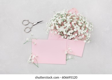 Gypsophila Wedding Card Images Stock Photos Vectors