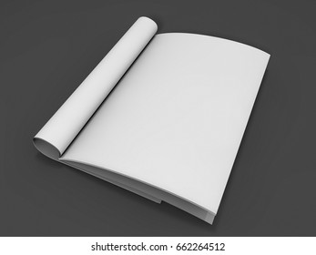 Mock-up magazine or catalog on a table. 3D rendering