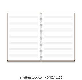 Mockup notebook on a white background  stylish illustration