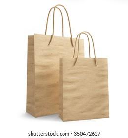 mockup paper shopping bag. 3d