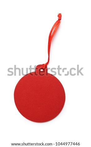 mockup red gift tag label isolated stock photo edit now 1044977446