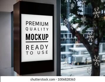 Mockup of a sign board