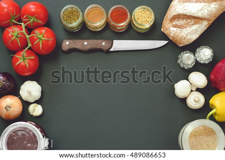 Mockup Vintage Bistro Kitchen Food Items Stock Photo (Edit Now ...