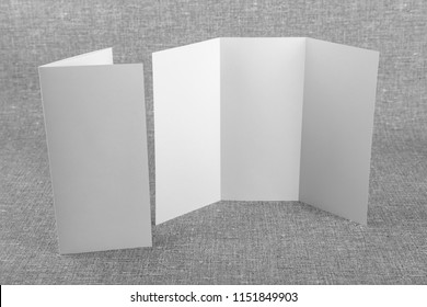 Mockup of white booklet on gray background