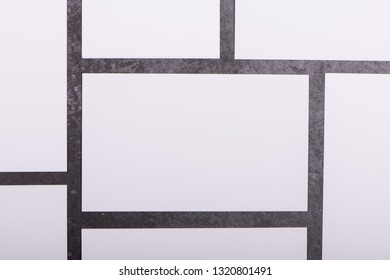 Mockup of white business cards stacks in a row on dark grey background, Ideals for presentation and design artwork