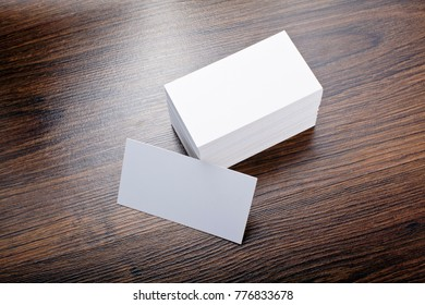 Business card on the table images stock photos vectors shutterstock mockup of white business cards at wooden background template for branding identity reheart Choice Image