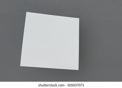 Mock-up white cover a square shape on a black background. Business cards, postcards and posters. Layout for your design. Three-dimensional rendering.