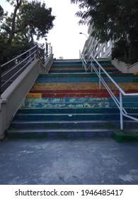 Moda Stairs in Kadikoy Istanbul - Shutterstock ID 1946485417
