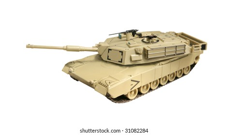 A model Abrams tank, currently used by the US army