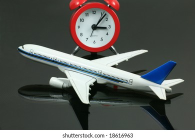 Model Airplane with Clock