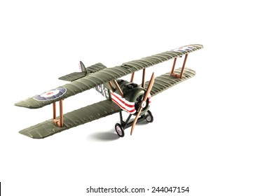Model airplane on isolated