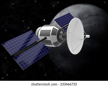 Model of an artificial satellite in the space