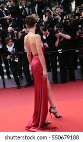 Model Bella Hadid attends 'The Unknown Girl (La Fille Inconnue)' Premiere duirng the annual 69th Cannes Film Festival at Palais des Festivals on May 18, 2016 in Cannes, France.