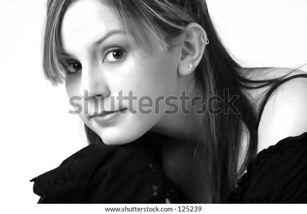 Model in Black and White 4