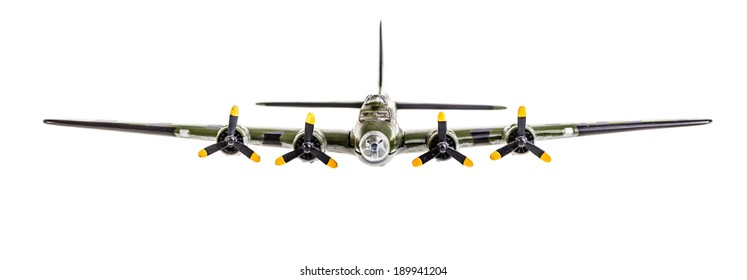 model bomber plane isolated over a white background