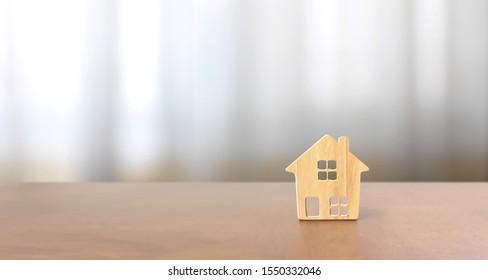 Model of detached a house, business home idea