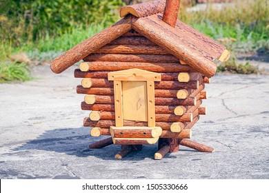 Model fabulous hut on chicken legs. Baba Yaga's House