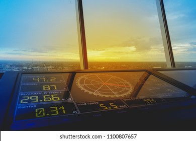 Model Flight Control Room In the evening