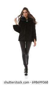 Model in a fur coat