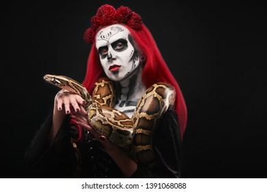 Skeleton Hand Hair Clip in White Halloween Costume Gothic Ghost Punk Nightmare