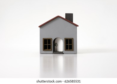 Model house on a white background.