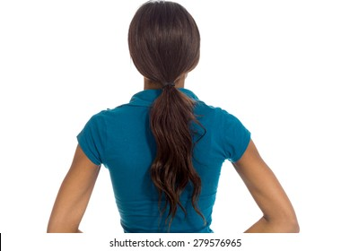 Model isolated from behind