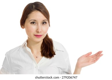 Model isolated hand gesture presenting
