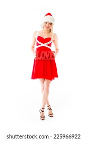 model isolated on white in love