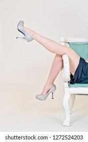 Model Leg High Heels Fashion Shoes Girl