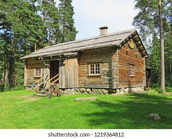A model of a log house, common in old times in some parts of Sweden, Mariebergskogen Karlstad