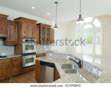 Model Luxury Home Interior Kitchen Arch Stock Photo Edit Now
