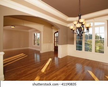 Model Luxury Home Interior Two Front Entrance Rooms