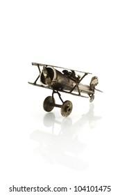 model of metallic airplane