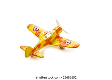 Model of the military plane. A photo on a white background.