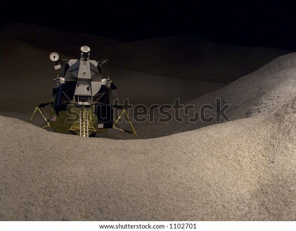 Model of the moon lander