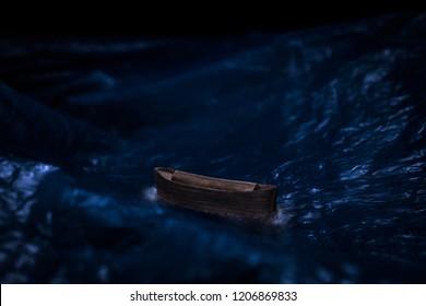 Model of Noah's Ark in the sea