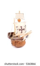 model of old ship