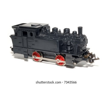 Model of Old Steam isolated over a white background
