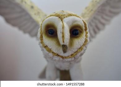 A model owl in flight
