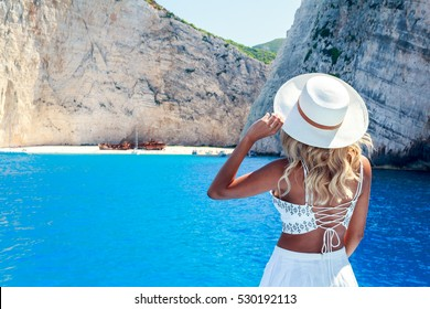 Model Photography in Zante  - Zakynthos , Greece . ( Shipreck - Navagio Beach )